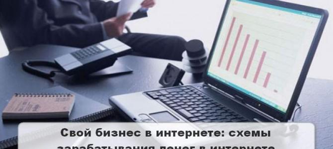 Свой бизнес в интернете: схемы зарабатывания денег в сети интернет